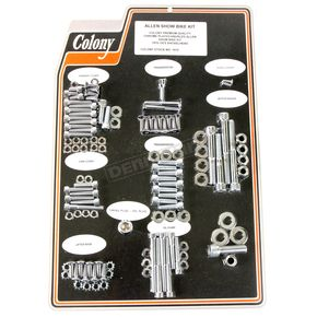 Chrome Knurled Allen Show Bike Bolt Kit - 1012