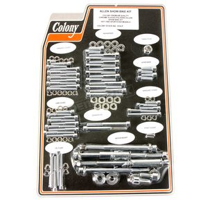 Chrome Polished Allen Show Bike Bolt Kit - 1016-P