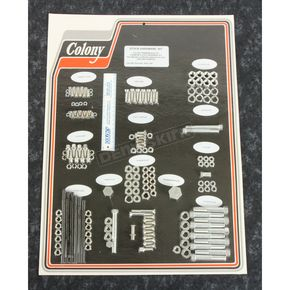 Cadmium Complete Stock Hardware Kit - 8303 CAD