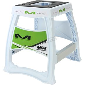 White & Green Elite Motorcycle Stand 284754 - M64-105