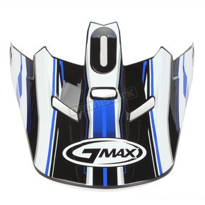 GMax Black/Blue/White Visor for GM46.2 Traxxion X-Small to Small Helmet - 72-1183