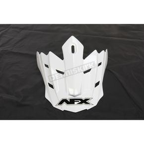 AFX Youth White FX17 Visor - 0132-0992