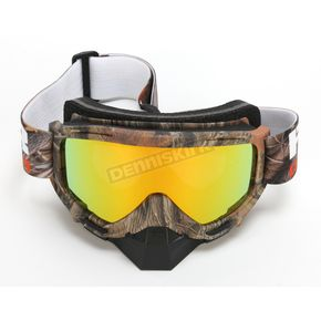 FXR Racing Camo Mission Recon Speed Goggle w/Smoke Lens with Solar Finish - 173101-1600-00