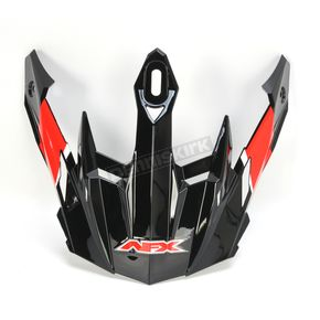 AFX Black/Red/White FX-41DS AT Visor - 0132-1040