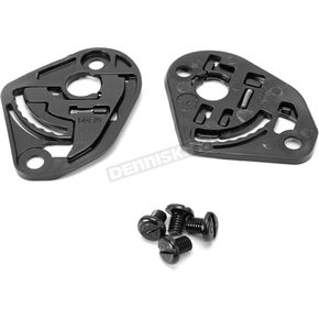 Black HJ-17 Base Plate Kit for CL-33/FG-Jet/IS-33/IS-33 II Helmets - 874-100