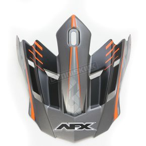 AFX Frost Gray/Orange FX-17 Factor Visor - 0132-0933