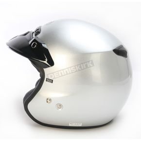 RJ Platinum-R Metallic Light Silver Helmet