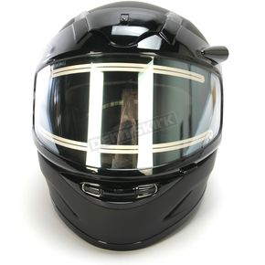 HJC Youth Matte Black CL-YSN Helmet With Electric Shield - 1219-0135-56
