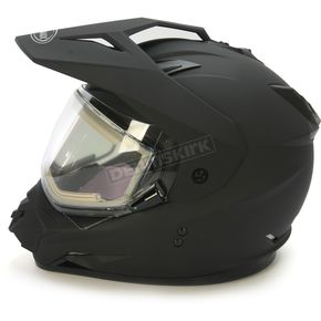 GMax Matte Black GM11S Snow Sport Snowmobile Helmet With Electric Shield - 72-71232X