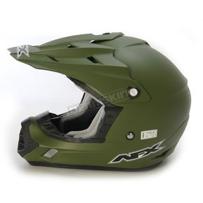 AFX Flat Drab Olive FX-17 Youth Factor Helmet - 0111-0998
