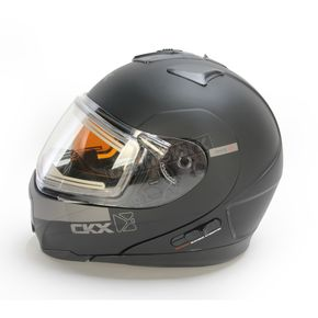 CKX Matte Black Tranz 1.5 RSV EVO Snow Modular Helmet w/Electric Shield - 503735