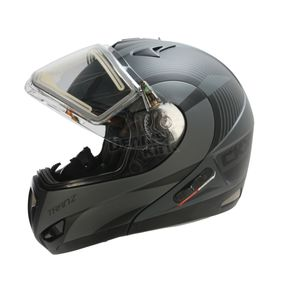CKX Matte Gray/Black Tranz RSV Chronos Modular Snow Helmet w/Electric Shield - 505435