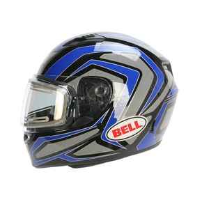 Bell Helmets Blue/Titanium/Black Qualifier Machine Snow Helmet w/Electric Shield  - 7076130