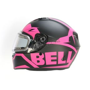 Bell Helmets Matte Pink/Black Qualifier Momentum Snow Helmet w/Electric Shield - 7076191