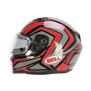 Bell Helmets Red/Titanium/Black Qualifier Machine Snow Helmet w/Electric Shield  - 7076204