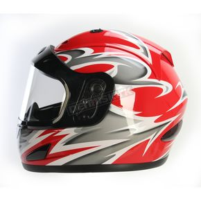 Raider Red Full Face Helmet - 26-683R-14