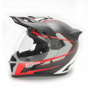 Klim Black/Red Krios Karbon Vanquish Adventure Helmet - 3510-000-150-003