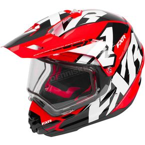 FXR Racing Black/Red/White Torque X Core Helmet w/Electric Shield - 180610-1020-16