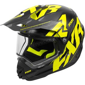 FXR Racing Black/Hi-Vis Torque X Core Helmet w/Electric Shield - 180610-6510-04