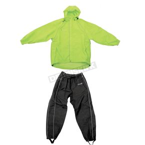 Frogg Toggs Hi-Vis Green/Black Cruisin Toggs Rainsuit - TT10399-148XL