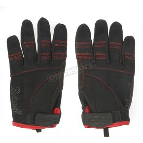 Biltwell Black/Red Moto Gloves - GL-XXL-BK-RD
