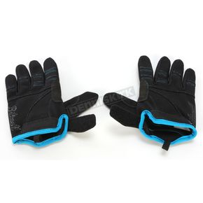 Biltwell Black/Blue Moto Gloves - GL-MED-BK-BU