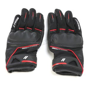 Joe Rocket Black/Red Super Moto Gloves - 1632-1103