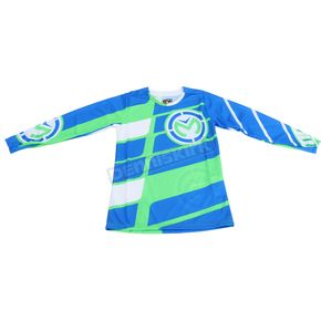 Moose Youth Green/Blue M1 Jersey - 2912-1453