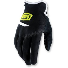 100% Youth Black Airmatic Gloves - 10004-011-07
