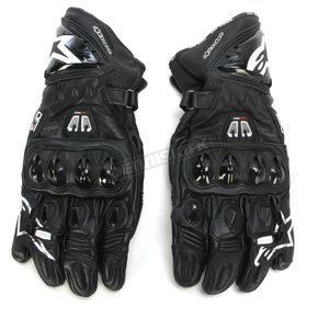 Alpinestars Black GP Pro R2 Leather Gloves - 3556717-10-M
