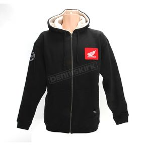 Factory Effex Black Honda Zip-Up Sherpa Hoody - 20-88332