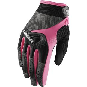 Thor Women's Black/Pink Spectrum Gloves  - 3331-0146