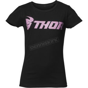 Thor Girls Black Loud Tee Shirt - 3032-2655
