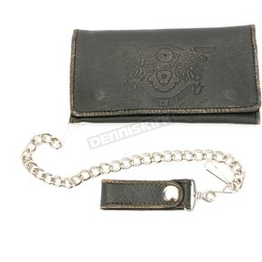 Brown Leather Biker Chain Wallet - 9071.00