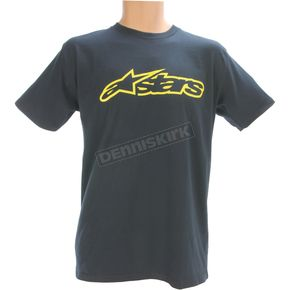 Alpinestars Blue/Yellow Blaze T-Shirt - 1032720327050S