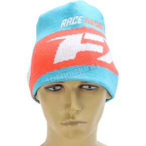 FXR Racing Aqua/Electric Tangerine Podium Beanie - 171615-5035-00