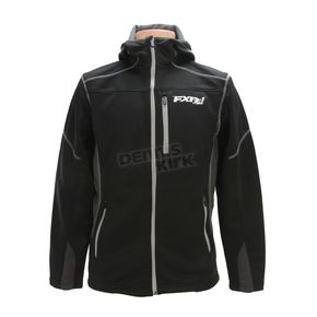 FXR Racing Black Summit Tech Zip Hoody - 170929-1000-10