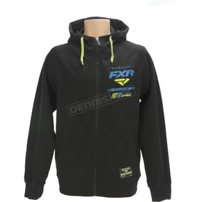 FXR Racing Black/Blue Factory Ride Zip Hoody - 171302-1040-16
