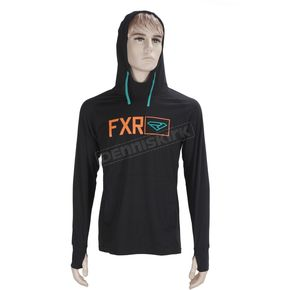 FXR Racing Black/Orange Terminal Tech Pullover Hoody - 170913-1030-16