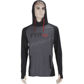 FXR Racing Black/Gray Heather Terminal Tech Pullover Hoody - 170913-1006-10