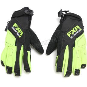 FXR Racing Black/Hi-Vis Attack Lite Gloves - 15624.70116