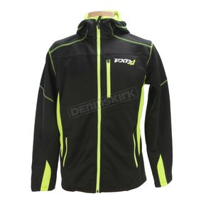 FXR Racing Black/Hi-Vis Summit Tech Zip Hoody - 170929-1065-19