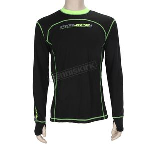 FXR Racing Black/Hi-Vis Vapour 20% Merino Long Sleeve Top - 171100-1065-16