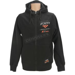 FXR Racing Black/Orange Factory Ride Hoody - 171302-1030-13