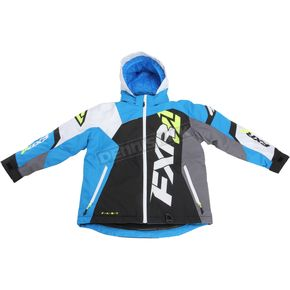 FXR Racing Youth Black/White Weave/Blue Revo X Jacket - 170406-1040-16