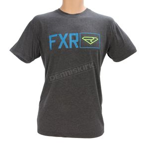 FXR Racing Charcoal Heather/Blue Terminal Tech T-Shirt - 170915-0640-16