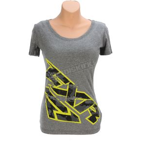 FXR Racing Charcoal Heather/Hi-Vis/Gray Urban Camo Broadcast T-Shirt - 171412-0865-16