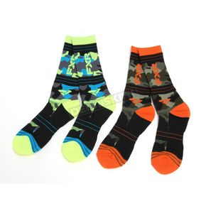 FXR Racing Multi Color Camo Turbo Athletic Socks - 171640-6506-00