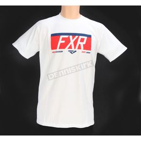 FXR Racing White/Red Premium T-Shirt - 171312-0120-10