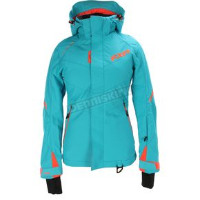 FXR Racing Women's Aqua/Electric Tangerine  Rush Jacket - 170209-5035-04